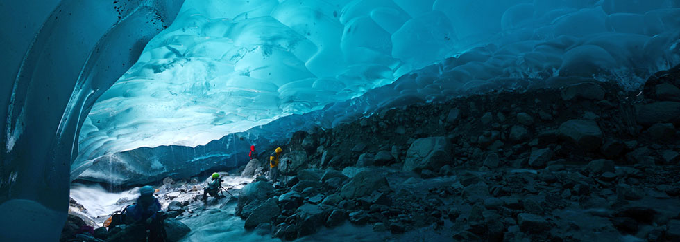 Image of an ice cave in Juneau