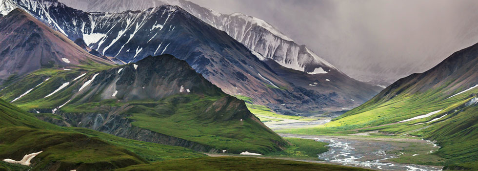 Image of mountain valley in Alaska